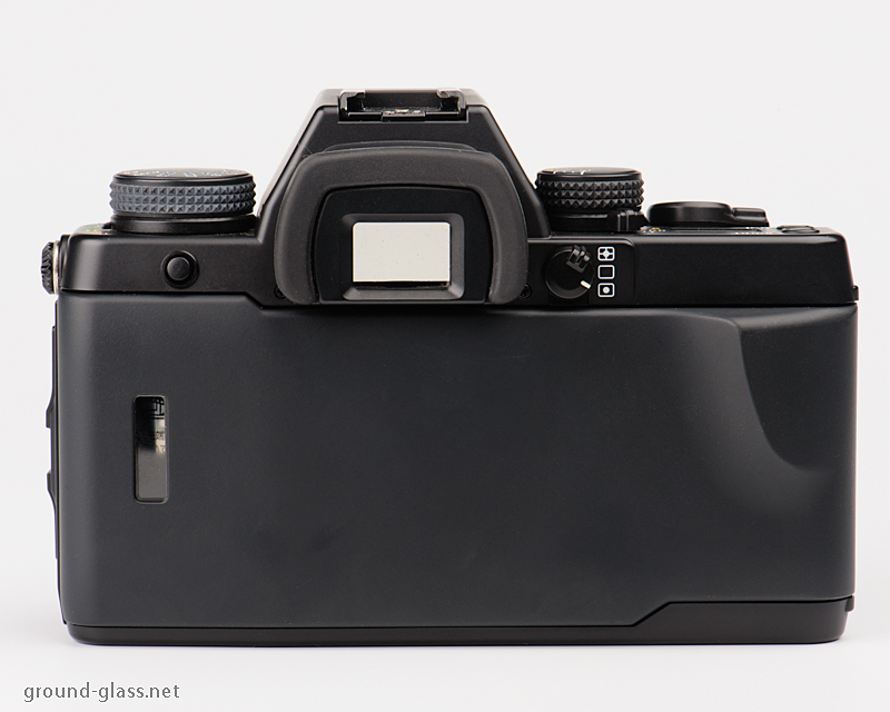 Rear view of the Contax Aria 35mm roll film camera body