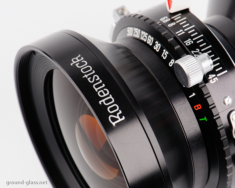 Detail of the Rodenstock Grandagon-N 90mm f/ 6.8 large format photo lens