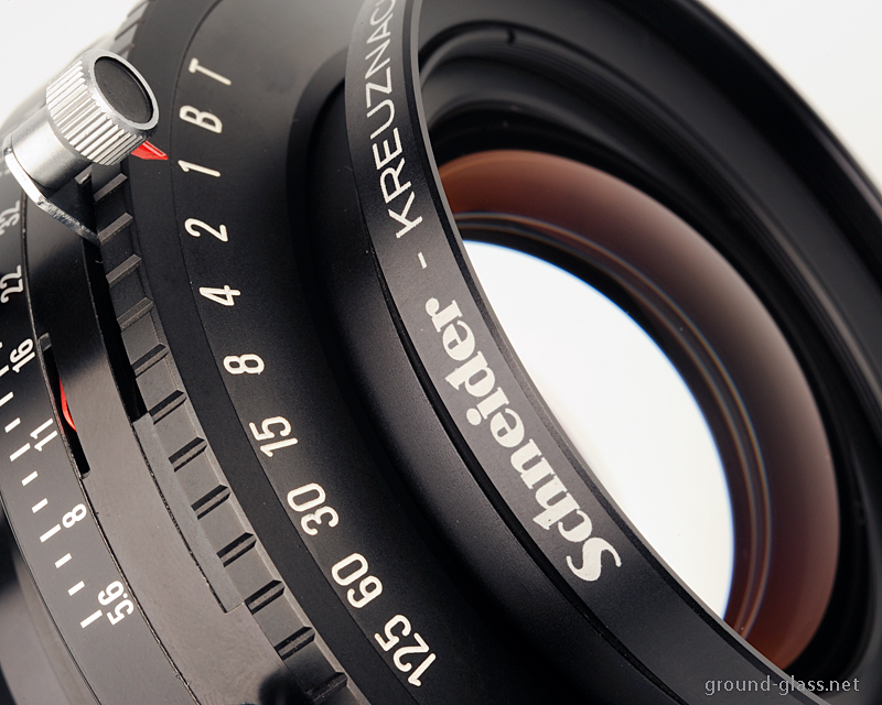 Detail of the Schneider APO Symmar 240mm f/ 5.6 large format photo lens