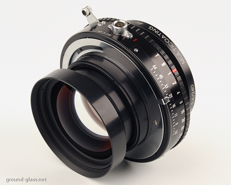 rear view of the Schneider APO Symmar 240mm f/ 5.6 large format photo lens