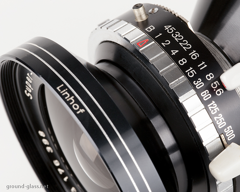 Detail of the Schneider Super-Angulon 65mm f/ 5.6 lens