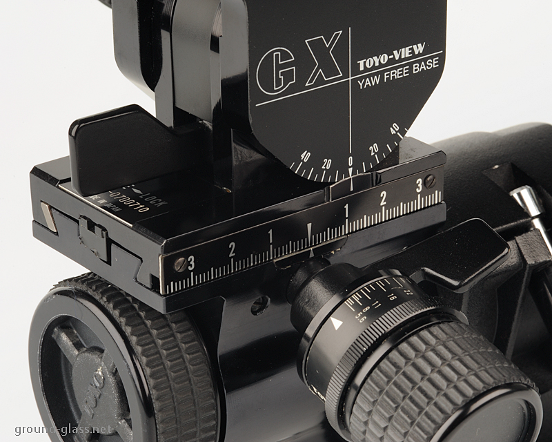Detail of the Toyo-View 45 GX large format photo camera